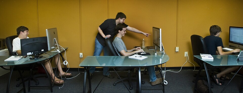 Interns at a a mobile-software startup in Columbia, South Carolina.