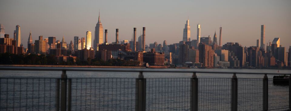Photo of New York City skyline.