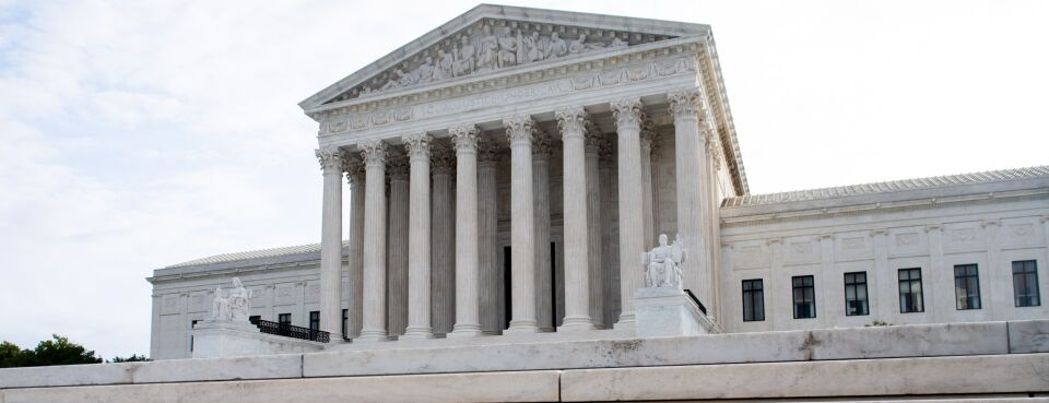 The U.S. Supreme Court is seen on the first day of a new term in Washington, Oct. 7, 2019.