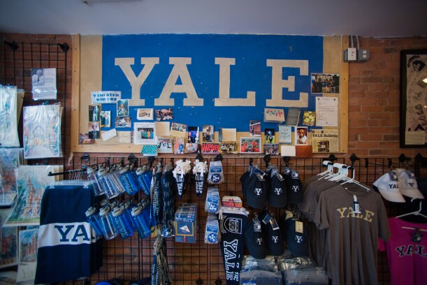 Views Of Yale University As Ivy League Pay Soars Branded items are displayed for sale at the Campus Customs store near the Yale University campus in New Haven, Connecticut, U.S., on Friday, June 12, 2015. Yale University is an educational institute that offers undergraduate degree programs in art, law, engineering, medicine, and nursing as well as graduate level programs.