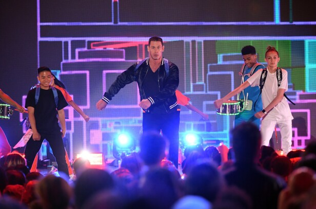 John Cena and Backpack Kid perform onstage at Nickelodeon s 2018 Kids   Choice Awards at The Forum on March 24 da4c62a2951bd