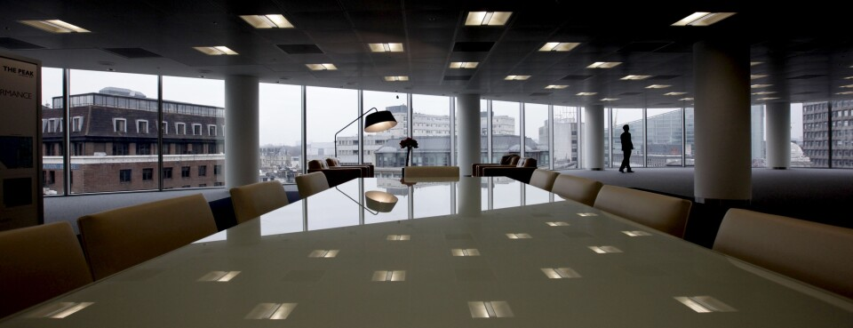 Empty Office - Insights: An unoccupied floor in ''The Peak'' office complex in London in January 2010.