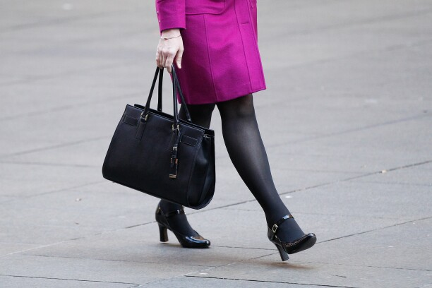 Woman with business bag