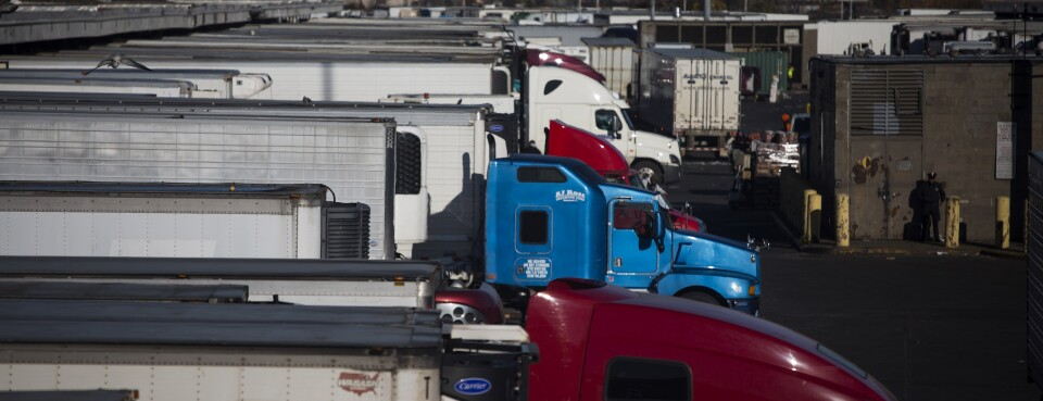 Tractor trailers sit parked at the Hunts Point Terminal Produce Market in the Bronx borough of New York. The U.S. Supreme Court Jan. 15, 2019, said that the federal law that's used to enforce arbitration agreements doesn't apply to transportation workers in interstate commerce, opening the door for truck drivers to avoid arbitration and take any claims to court.