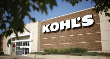 Photo of signage outside a Kohl's Corp. department store.