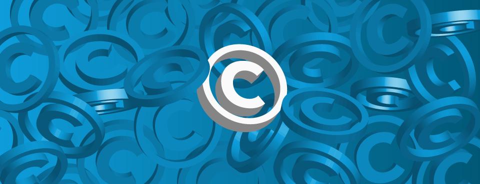 Photo illustration of the copyright symbol.