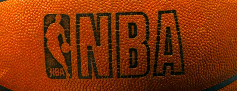 NBA logo is shown on the game ball.
