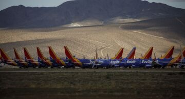 Photo of Southwest Airline aircraft.