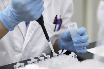 Home DNA Testing Starts to Gain Ground in Japan's Aging Society A technician prepares a test solution for processing DNA samples at a Genesis Healthcare Co. laboratory in Tokyo, Japan, on Wednesday, July 4, 2018. DNA testing at home in Japan is starting to gain traction as more people age and seek answers about their risks for diseases.
