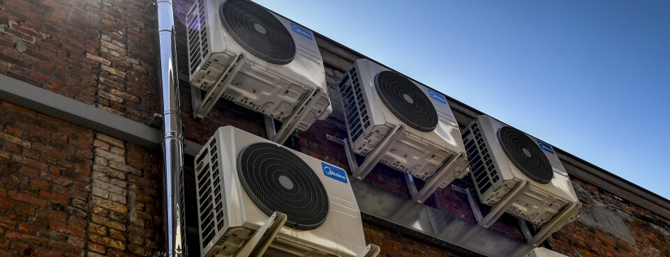 Air conditioning units - Insights: Air conditioning units in Antwerp on July 23, 2019.