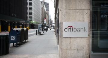 Photo of a Citibank branch in New York City.