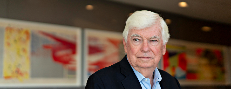 Christopher Dodd, former Democratic senator from Connecticut, sits for a photograph after an interview in Washington, on Aug. 29.