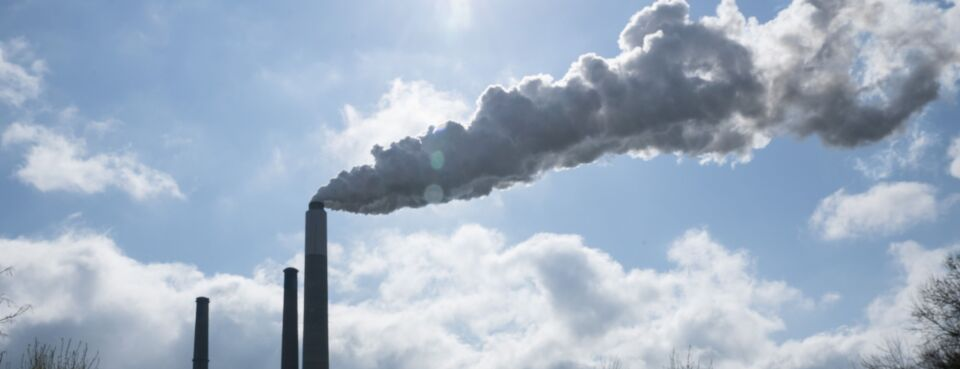 Emissions - Insights: Emissions from a smokestack in Ohio.