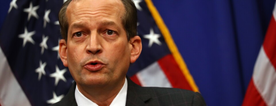 Acosta Touts Labor Deregulation, Enforcement in Goodbye Email