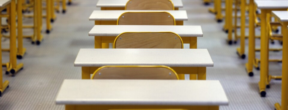 Exam room / classroom - Insight: An examination room at the lycee Pierre-Gilles-de-Gennes in Paris on Jan. 8, 2014.