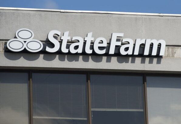 A State Farm insurance office is seen in Springfield, Virginia.