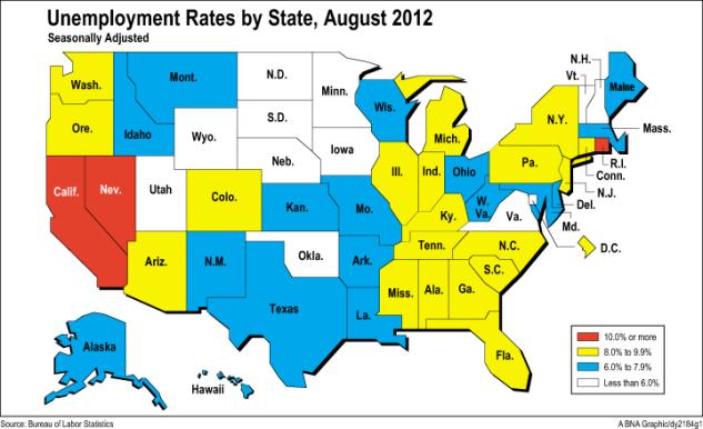 Texas, Florida, Missouri Led NationIn Job Gains in August