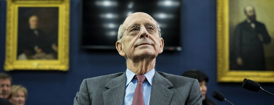 Justice Stephen Breyer is pictured at a 2015 hearing before the House Appropriations Financial Services and General Government Subcommittee.
