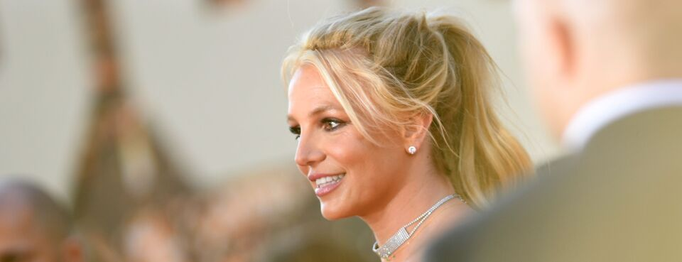 Britney Spears arrives at a movie premiere in July 2019.