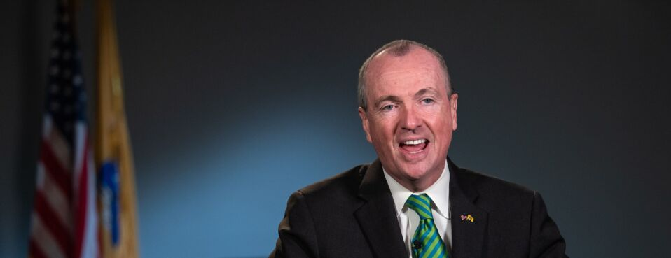 New Jersey Governor Phil Murphy speaks during a Bloomberg Television interview in Newark, New Jersey, on Friday, March 8, 2019.