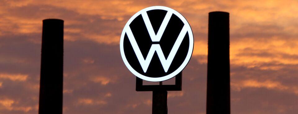 Photo of VW logo.