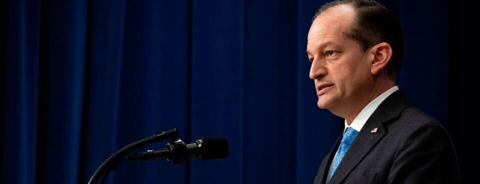 U.S. Secretary of Labor Alexander Acosta announced his resignation today.