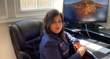 Neha Pathak has been sidelined from work while awaiting her reauthorization by USCIS.