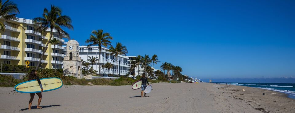Photo of the shore in Palm Beach, Fla.