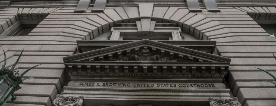 Photo of Ninth Circuit courthouse building in San Francisco.