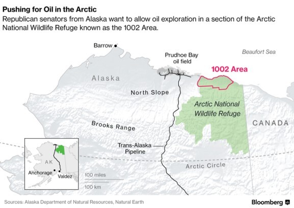 Anwr Alaska Map.Companies Await Their Chance To Explore In Arctic Refuge Bloomberg