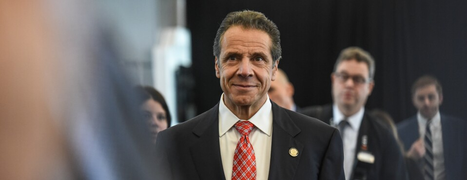 New York Gov. Andrew Cuomo arrives to a ceremony at LaGuardia airport on Oct. 29, 2019.