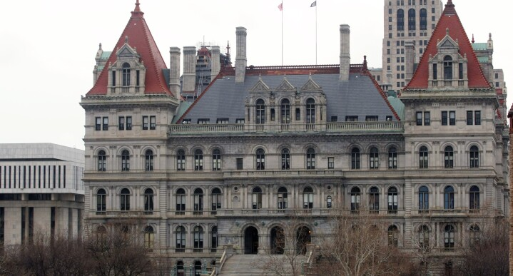 The New York State Capitol building in Albany, New York.  The state's Gender Expression Non-Discrimination Act takes effect Feb. 24, 2019.