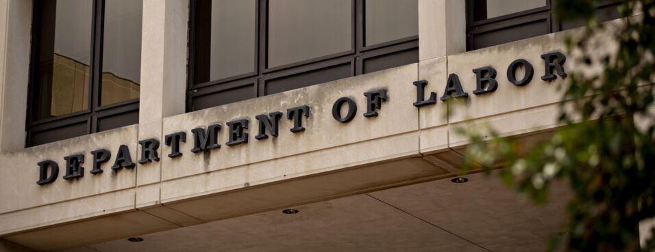 The U.S. Department of Labor headquarters stands in Washington, D.C., on Aug. 16, 2019.