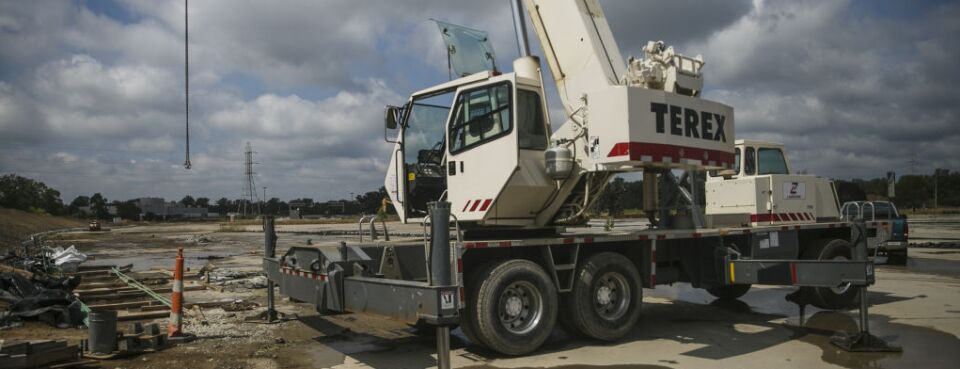 Terex machinery (used 8/22/18)