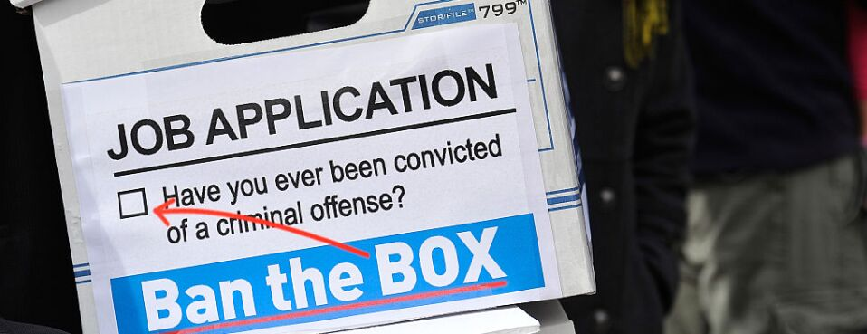 View of outreach materials are seen at a press conference for a Ban The Box Petition delivery to the White House on Oct. 26, 2015.