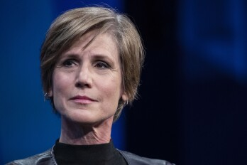Sally Yates At The Bloomberg Year Ahead Summit Sally Yates, partner of King & Spalding LLP, listens during the Bloomberg Year Ahead Summit in New York, U.S., on Wednesday, Nov. 28, 2018. The summit addresses the most important trends, issues and challenges every executive will need to consider in 2019 and beyond.