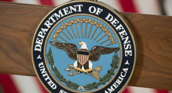 The seal of the US Department of Defense.