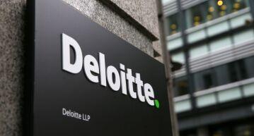 Deloitte logo.