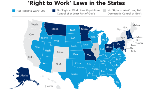 Analysis Are Unions Really Weaker In Right To Work States