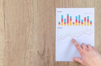 chart graph finance financial data