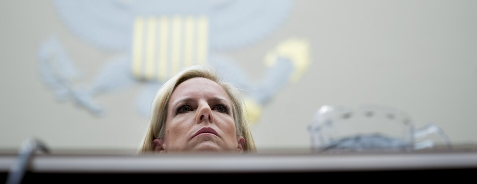 Kirstjen Nielsen, U.S. secretary of Homeland Security (DHS), listens during a House Judiciary Committee hearing in Washington. DHS, which includes the U.S. Citizenship and Immigration Services agency, is likely to see more push-back from businesses in 2019 on its immigration policies.