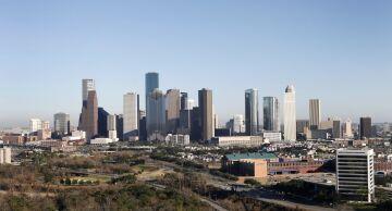 Photo of the skyline of Houston.