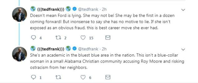 CEI Won't Defend Ted Frank's Tweets About Kavanaugh Accuser