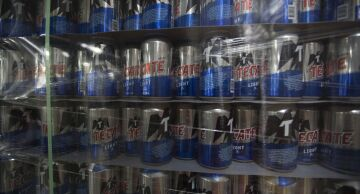 Photo of cans of Tecate beer.