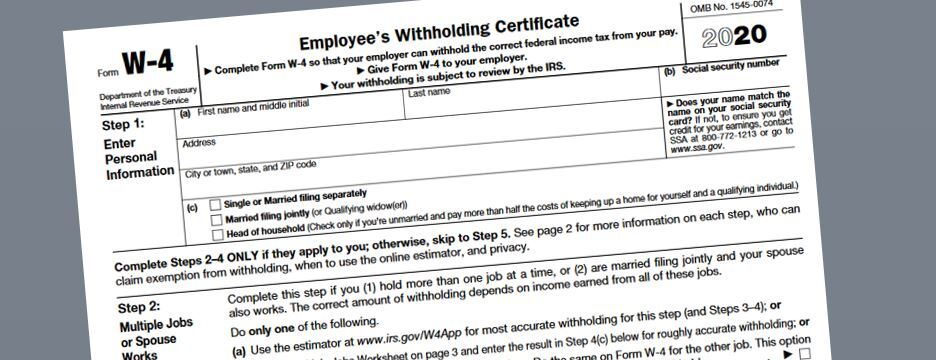 Second Home Tax Deduction 2020.Irs Issues Final Version Of 2020 Employee Withholding Form
