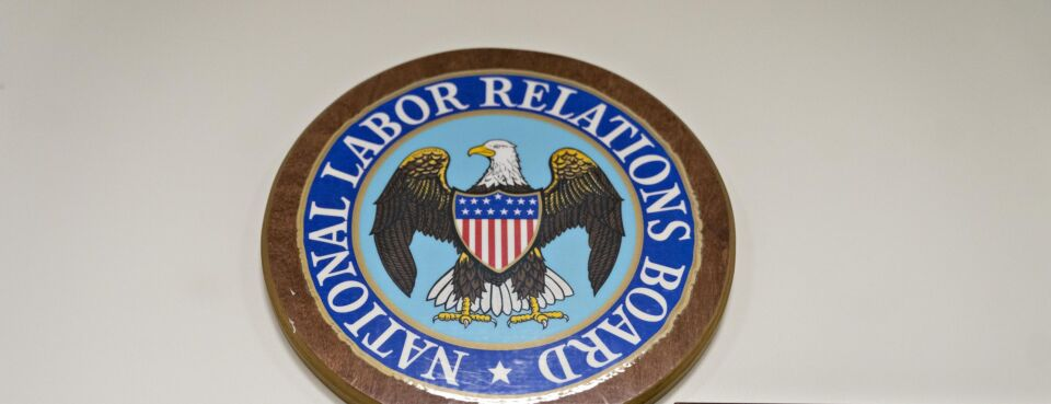 The National Labor Relations Board seal is displayed.