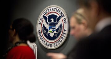 Photo of the seal of the U.S. Department of Homeland Security.